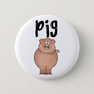 Pig Farm Animal 2 Inch Round Button