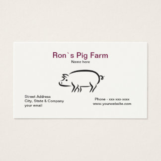 Pig Farm Business Card