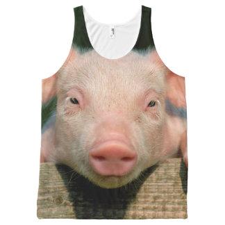 Pig farm - pig face All-Over-Print tank top