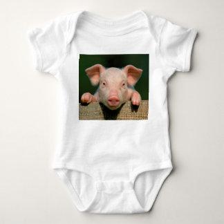 Pig farm - pig face baby bodysuit