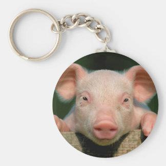 Pig farm - pig face keychain