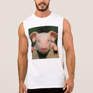 Pig farm - pig face sleeveless shirt