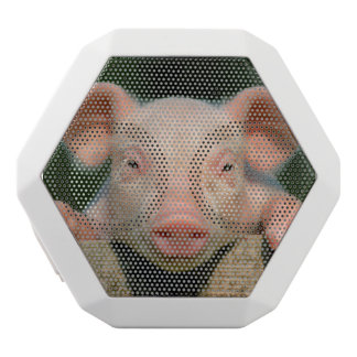 Pig farm - pig face white bluetooth speaker
