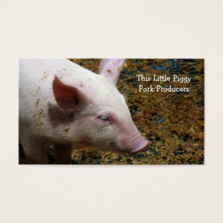 Pig Farmer - Cute Piglet Photograph Business Card