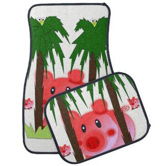 Pig floor car mats