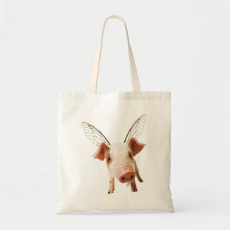 Pig Flying Tote Bag