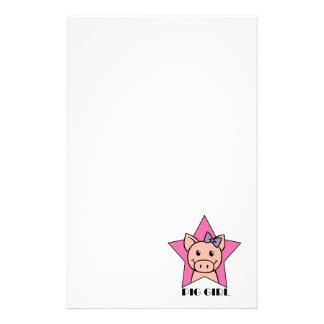 Pig Girl Stationery