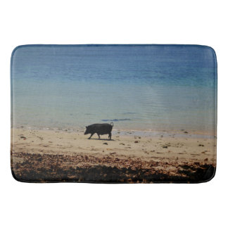 Pig had bath mat