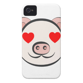 Pig Heart Emoji Case-Mate iPhone 4 Cases