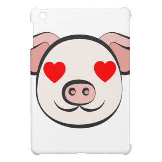 Pig Heart Emoji iPad Mini Cover