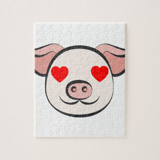 Pig Heart Emoji Jigsaw Puzzle
