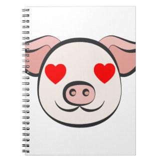Pig Heart Emoji Notebook