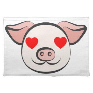 Pig Heart Emoji Placemat