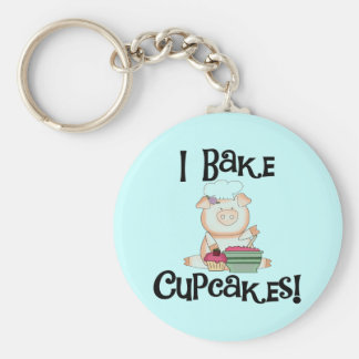 Pig I Bake Cupcakes Tshirts and Gifts Keychain