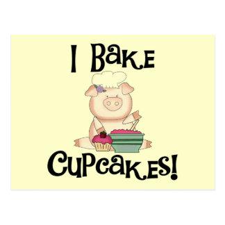 Pig I Bake Cupcakes Tshirts and Gifts Postcard