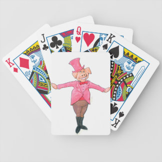 Pig in a Top Hat Bicycle Playing Cards