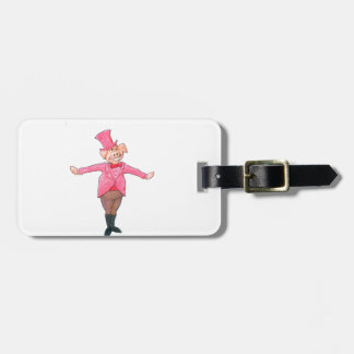 Pig in a Top Hat Luggage Tag