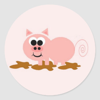 Pig in Mud Sticker