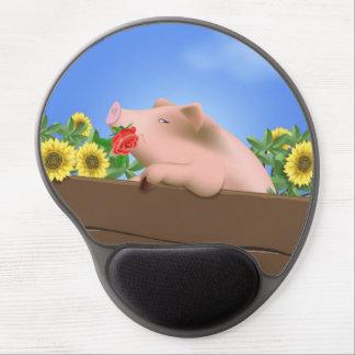 Pig in Pan Gel Mouse Pads