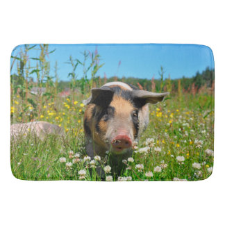 Pig in the Nature Bathroom Mat