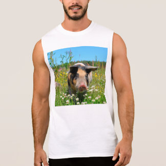 Pig in the Nature Sleeveless Shirt