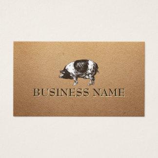 Pig Livestock Farming Rustic Paper Business Card