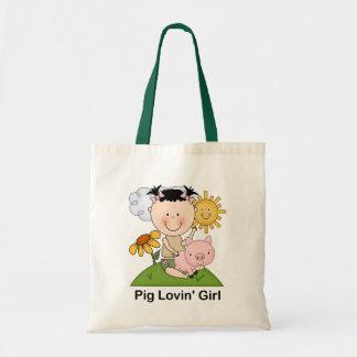 Pig Lovin' Girl Tote Bag