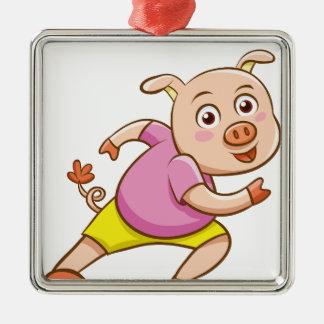 pig metal ornament