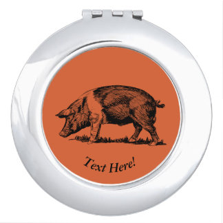 Pig Mirror For Makeup