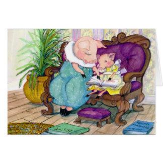 Pig momma and Clara copy Card