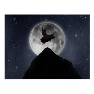pig over mountain postcard