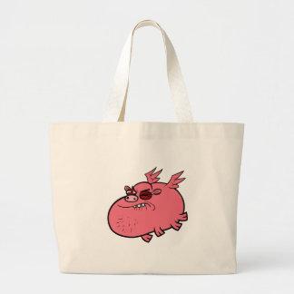 Pig Pain Large Tote Bag