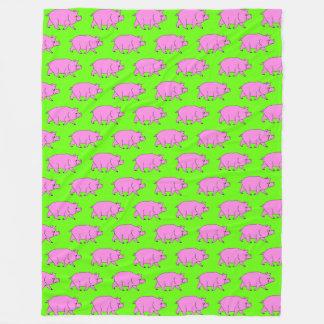 Pig Pattern Fleece Blanket