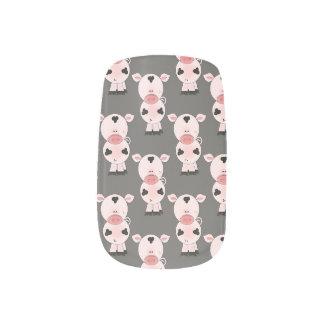 Pig Pattern Nails Minx Nail Art