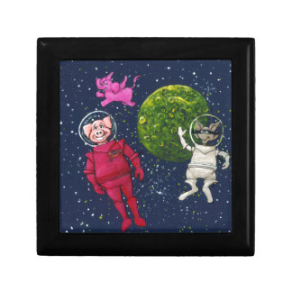 Pig, Raccoon and Pink Elephant Gift Box