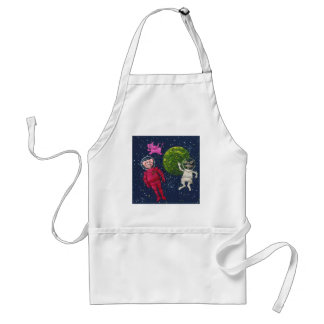 Pig, Raccoon and Pink Elephant Standard Apron