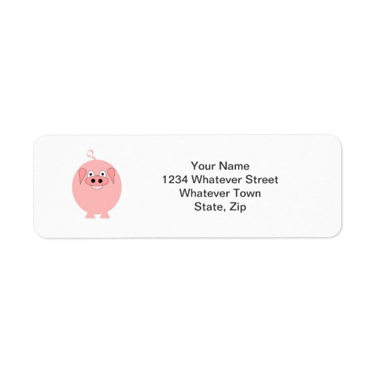 Pig Return Address Label