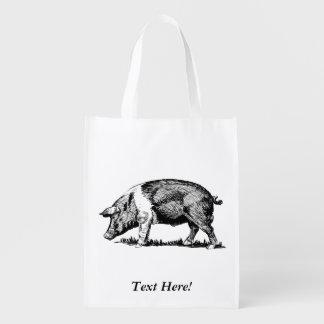 Pig Reusable Grocery Bag