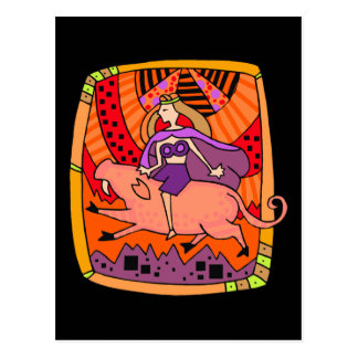 Pig Ride Postcard