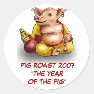 PIG ROAST 2007 STICKER