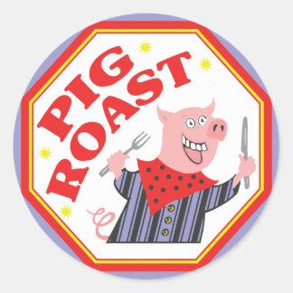 Pig Roast Classic Round Sticker
