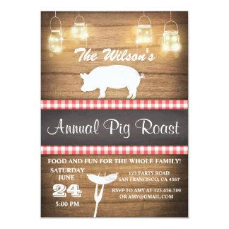Pig Roast invitation BBQ BaByQ Shower Rustic wood