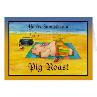 Pig Roast Invitation Card