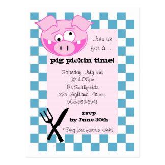 Pig Roast Invitation Postcard
