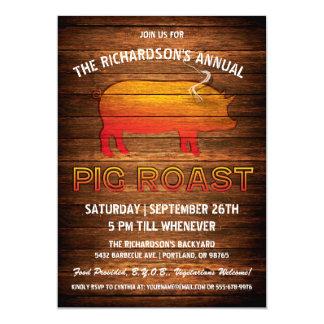 Pig Roast Invitations | Wood Branding