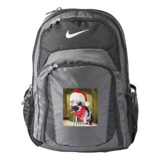 Pig santa claus - christmas pig - piglet backpack