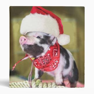 Pig santa claus - christmas pig - piglet binders