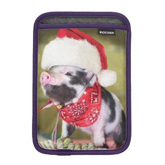 Pig santa claus - christmas pig - piglet iPad mini sleeve
