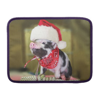 Pig santa claus - christmas pig - piglet MacBook sleeve