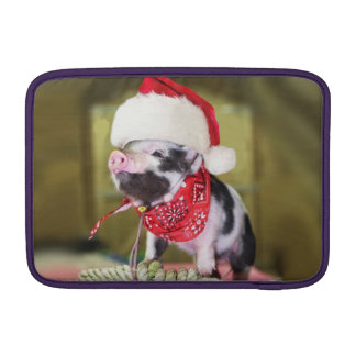 Pig santa claus - christmas pig - piglet sleeve for MacBook air